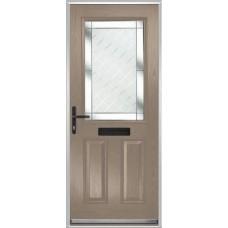 DoorCo Lytham composite door with Diamond Cut glazing
