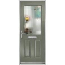 DoorCo Lytham composite door with Linear glazing