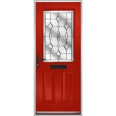 DoorCo Lytham composite door with Zinc Art Clarity glazing