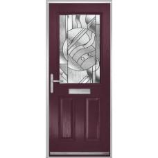 DoorCo Lytham composite door with Abstract glazing