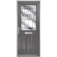 DoorCo Lytham composite door with Prairie glazing