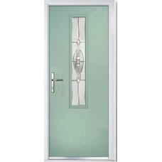 DoorCo Augusta Centre Lever handle composite door