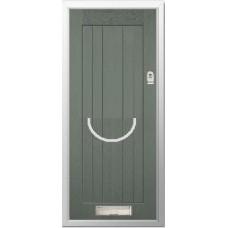 DoorCo Farmhouse  Bow Handle composite door