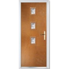 DoorCo Seminole Three Centre Lever handle composite door