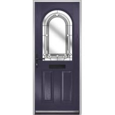 DoorCo Turnberry composite door with Inspiration Grey glazing