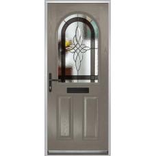 DoorCo Turnberry composite door with Harmony Grey glazing