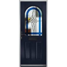 DoorCo Turnberry composite door with Harmony Blue glazing