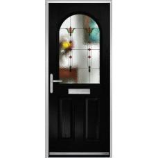 DoorCo Turnberry composite door with Fleur glazing