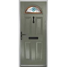 DoorCo Portrush Composite door with Dorchester Orange Glazing