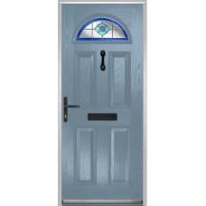 DoorCo Portrush Composite door with Dorchester Blue Glazing