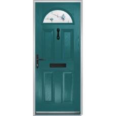 DoorCo Portrush Composite door with Murano Blue Glazing