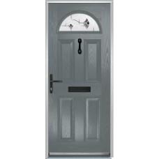 DoorCo Portrush Composite door with Murano Black Glazing