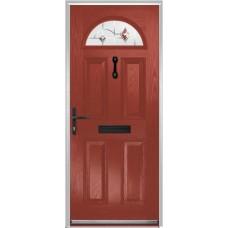 DoorCo Portrush Composite door with Murano Red Glazing