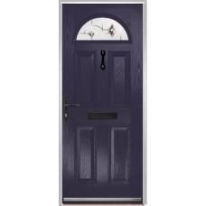 DoorCo Portrush Composite door with Murano Purple Glazing