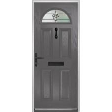 DoorCo Portrush Composite door with Designer Etch Glazing