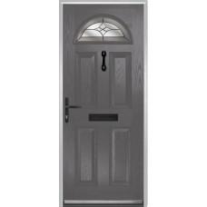 DoorCo Portrush Composite door with Crystal Harmony Grey Glazing