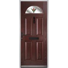 DoorCo Portrush Composite door with Fleur Glazing