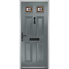 DoorCo Muirfield  Composite door with Dorchester Orange Glazing