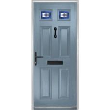 DoorCo Muirfield  Composite door with Dorchester Blue Glazing