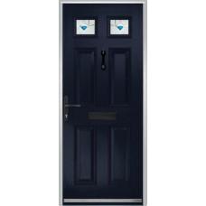 DoorCo Muirfield  Composite door with Murano Blue Glazing