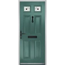 DoorCo Muirfield  Composite door with Murano Black Glazing