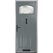 DoorCo St Andrews Composite Doors With Havana Glazing