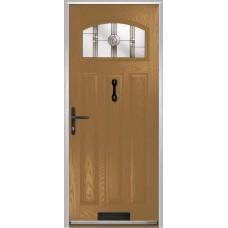 DoorCo St Andrews Composite Doors With Caledonian Rose Glazing