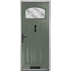 DoorCo St Andrews Composite Doors With Zinc Art Clarity Glazing