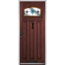 DoorCo St Andrews Composite Doors With Dorchester Orange Glazing