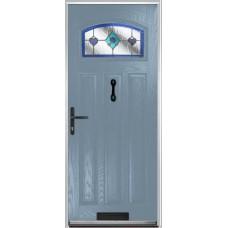 DoorCo St Andrews Composite Doors With Dorchester Blue Glazing