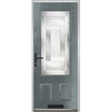 DoorCo Gleneagles composite door with Havana Glazing
