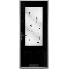 DoorCo Gleneagles composite door with Murano Black Glazing