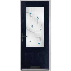 DoorCo Gleneagles composite door with Murano Blue Glazing