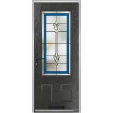 DoorCo Gleneagles composite door with Designer Etch Glazing