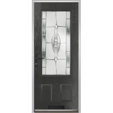 DoorCo Gleneagles composite door with Reflections Glazing