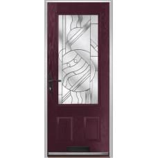DoorCo Gleneagles composite door with Zinc Art Abstract Glazing
