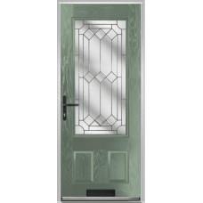 DoorCo Gleneagles composite door with Zinc Art Clarity Glazing
