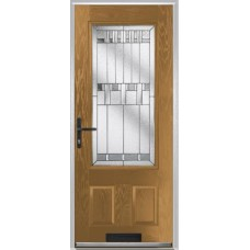 DoorCo Gleneagles composite door with Prairie Glazing