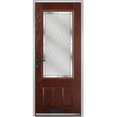 DoorCo Gleneagles composite door with Diamond Cut Glazing