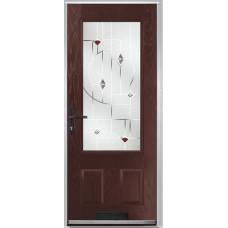 DoorCo Gleneagles composite door with Murano Purple Glazing