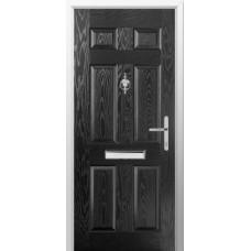 DoorCo Troon Solid lever Handle composite door