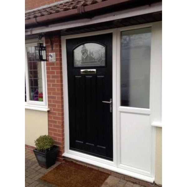 ... DoorCo St Andrews Composite Doors With Designer Etch Red Glazing ...  sc 1 st  WF Doors & standrews2-600x600.jpg